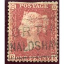 "1857 1d rose-red with ""North Ronaldshay"" Orkney Islands type XIX Scots Local"