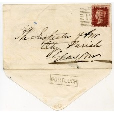 "1859 envelope bearing ""Gortloch"" Inverness-shire Scots Local handstamp."