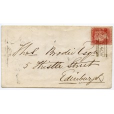 "1859 cover with 1d with RARE  type V ""Ardclach"" Scots Local handstamp."