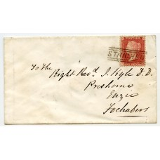 "1859 cover with 1d with type V ""Strichen"" Scots Local Handstamp."