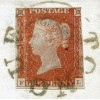 "1844 cover with 1d red-brown with ""Tongue"" Sutherland circular un-dated handstamp."