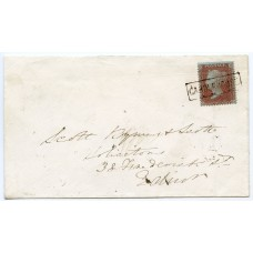 "1856 cover with 1d with type VIII ""Garderhouse"" local mark, Shetland Islands."