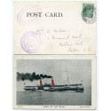 "1903 postcard with EVII ½d with ""Loch Long & Lochgoil Steamboat Co""  cachets."