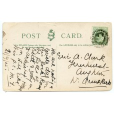 1905 postcard with EVII ½d with Greenock & Ardrishaig Packet Mail-bag seal.