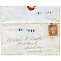 "1850 cover -1d red-brown with type I ""Howmore"" Isle of South Uist, Scots Local."