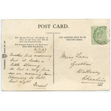 1907 postcard with EVII ½d from the Isle of Rhum to Wallasey.