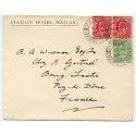 1906 envelope with EVII 2x1d and ½d from Mallaig addressed to France.