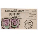 1896 Shieldaig, Parcel Post label, Highland Parcels Sorting Carriage, h/stamp