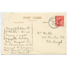 1931 postcard with KGV 1d tied by the Gigha, Argyll c.d.s.