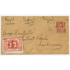 1930 envelope with 3d L.M.S. letterstamp addressed to Lochcarron, from Plockton.