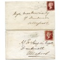 "1858/9 two covers -1ds  type VIII ""Lochbroom"" Ross, Scots Local nemestamps."