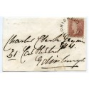"1856 cover -1d with type XX ""Ardrishaig"" Argyllshire, Scots Local handstamp."