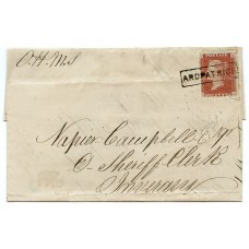 "1857 cover -1d with type VIII ""Ardpatrick"" Argyllshire Scots Local handstamp."