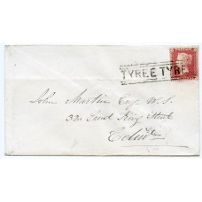 "1859 cover - 1d with type IV ""Tyree Tyree"" Isle of Tyree Scots Local handstamp."