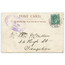 "1903 postcard with EVII ½d bearing ""Glasgow & S.W. Railway -P.S.Mercury"" cachet."