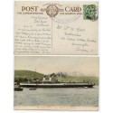 "1912 postcard with KGV ½d with ""Turbine Steamer ""King Edward"" cachet ."