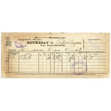 "1903 Parcel Way-Bill bearing oval ""Caledonian Steam Packet Co Ltd ""Ivanhoe"" cachet."