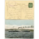 "1912 postcard with ½d ""Caledonian Steam Packet Co Ltd-Duchess of Rothesay"" cachet."