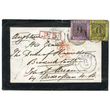 Baden, State of Germany, 1859 cover with 6kr & 9kr to the ISLE OF ARRAN