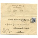 "1885 Land Valuation cvr to Oban ""Columba Steamer Greenock"" cds verso"