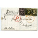 Prussia, State of Germany, 1855 cover with 1sgr and two 3sgr to Elgin, Scotland.