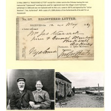 1869 Registered Letter receipt form from Uyeasound, Shetland Islands.