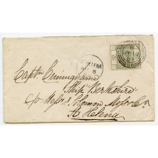 1884 cover with 6d green from Campbeltown to the Island of St Helena.