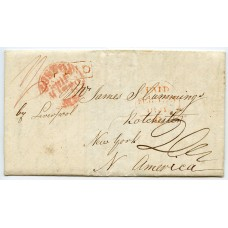 1841 cover from Kirkwall, Orkney Islands, addressed to New York, U.S.A.