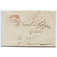 Rare 1841 cover from Sebay via Kirkwall, Orkney Islands to New York, U.S.A.