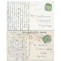 1910/11 postcards with EVII ½ds with Balfour, Orkney Islands circular datestamps.
