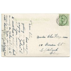 1908 postcard with EVII ½d with Dounby, Orkney Islands circular datestamp.