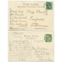 1904/11 postcards with EVII ½ds with Stromness and Stromness-Orkney c.d.s.