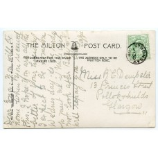 1908 postcard with EVII ½d with Stronsay, Orkney Islands, circular datestamp.