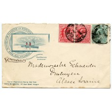 1902 David MacBrayne Royal Mail Steamer colour envelope from Aros MULL to Germany.
