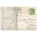 1913 postcard with KGV ½d with Whiteness-Lerwick Shetland Islands c.d.s.