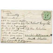 1911 postcard with EVII ½d with Vidlin, Shetland Islands c.d.s.