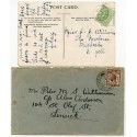 1910/29 postcards with EVII ½d and KGV 1½d with Cullivoe Shetland Islands c.d.s.