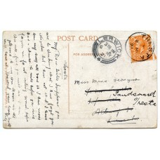 1921 postcard with KGV 2d with Tresta, Shetland Islands circular datrestamp.