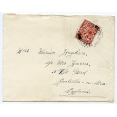 1927 cover with KGV 1½d issue with East Yell Lerwick Shetland, circular datestamp.