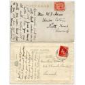 1925/37 postcards with KGV 1d + EVIII 1d with Levenwick, Shetland Islands c.d.s.