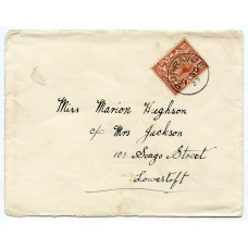 1925 cover with KGV 1½d with Burravoe, Shetland Islands circular datestamp.