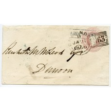 """1859 1d pink p/s cover with """"Ardentinny"""" VIII, Scots Local handstamp."""