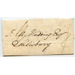 "1827 cover to Salisbury from Chirk, Denbighshire, RARE ""Chirk/Py Post"" h/s"