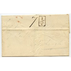 """1838 cover to Edinburgh from Galashiels with superb strike boxed """"Addl / ½"""" h/s"""
