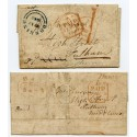 "1840 2 covers to Fulham from Hayling Island with very rare ""Havant / Penny Paid"" h/s"