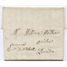 1802 cover privately carried Glasgow to Dundee due to high postage rates