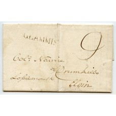 "1804 entire to Lossiemouth Elgin, rated ""9"" m/s +str-line ""Glammis"" h/s"