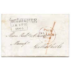 1844 entire with LOCHEE local h/s + Dundee Parent Office datestamp