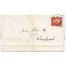 1861 scarce cover to Helensburgh with 1d Stars tied DUMBARTON c.d.s