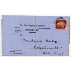 1864 scarce cover with 1d Pl. 91 tied by DUMBARTON datestamp